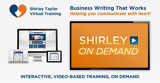 Shirley Taylor Virtual Training: Business Writing That Works